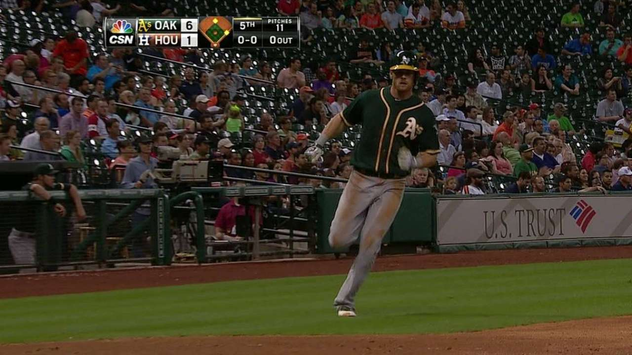 Moss stands out in A's lineup against lefty