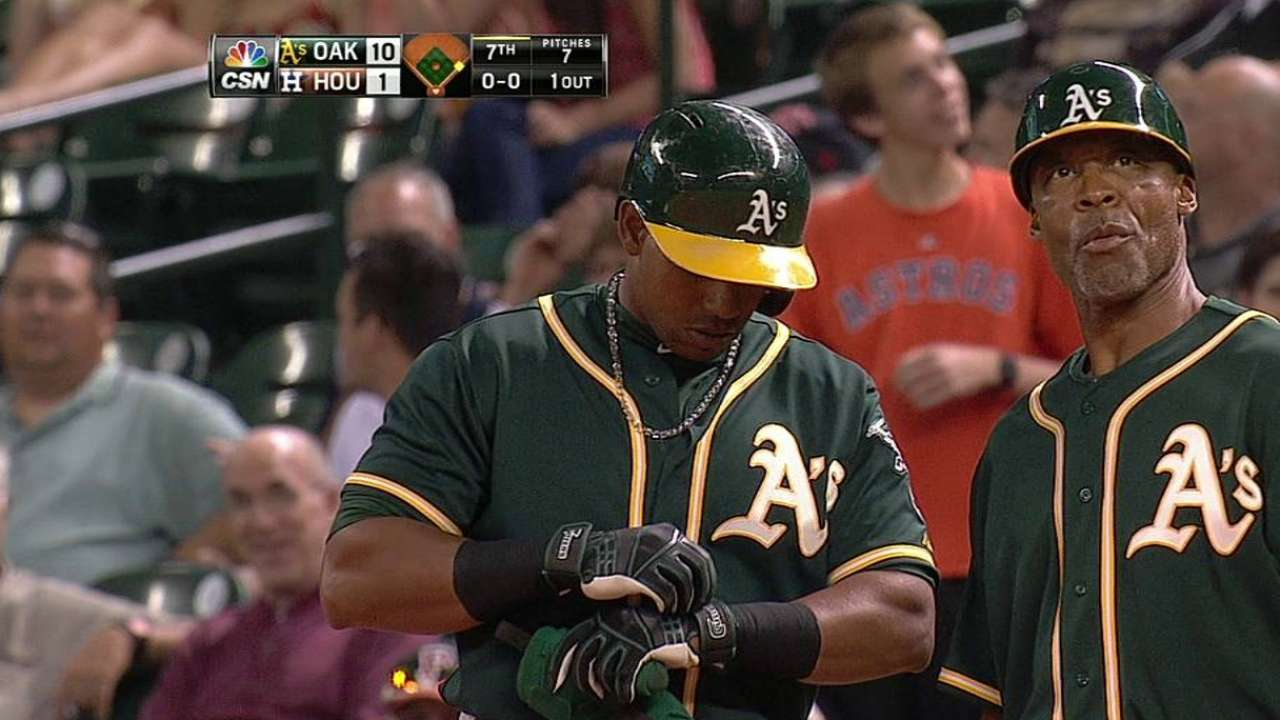 Cespedes returns to A's lineup