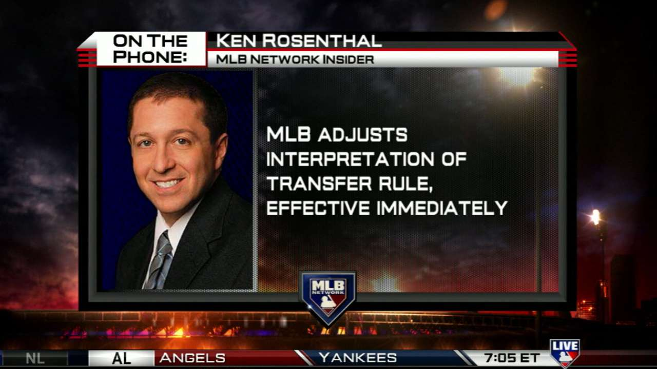 Nats happy with ball-transfer rule clarification