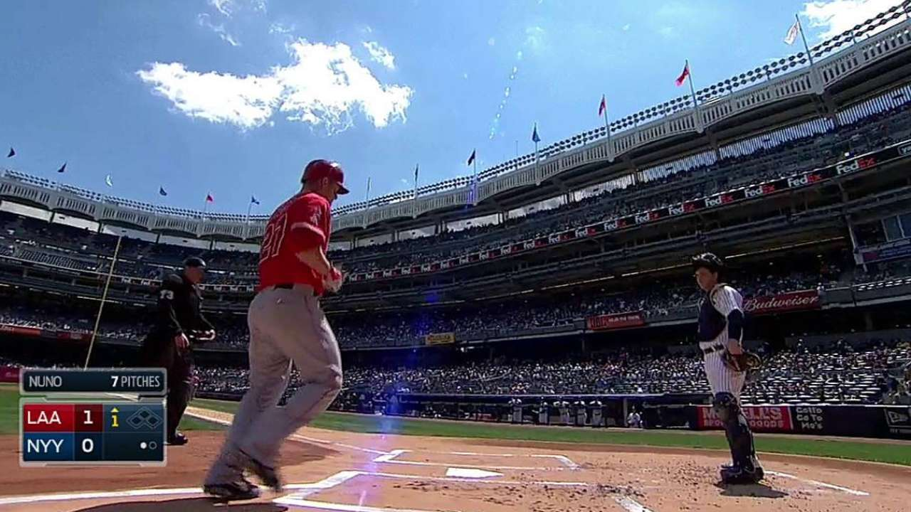 Halos fall to Yankees despite stellar relief
