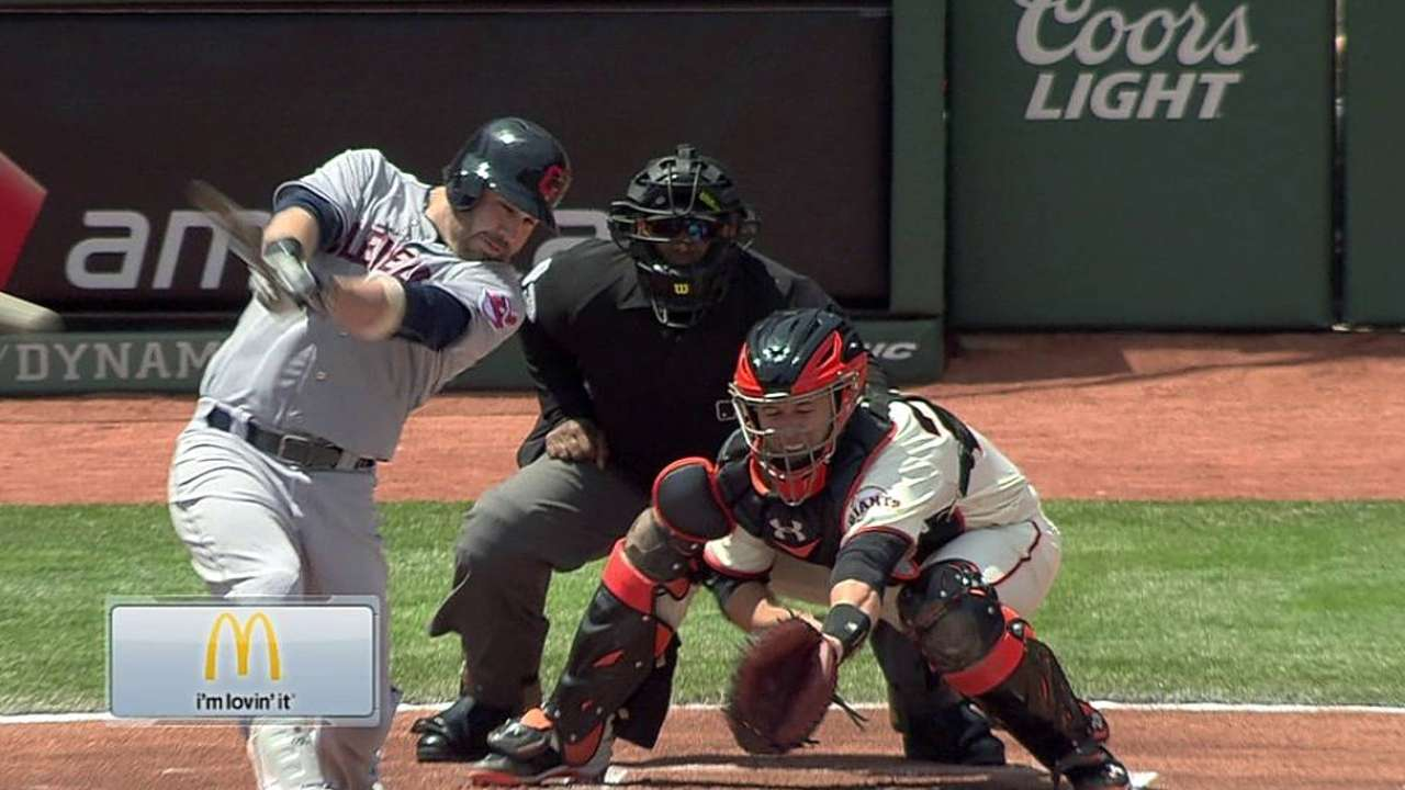 Indians, McAllister can't hold back Giants
