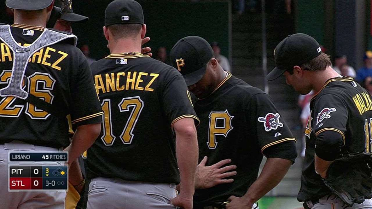Liriano departs in third inning with flu-like symptoms
