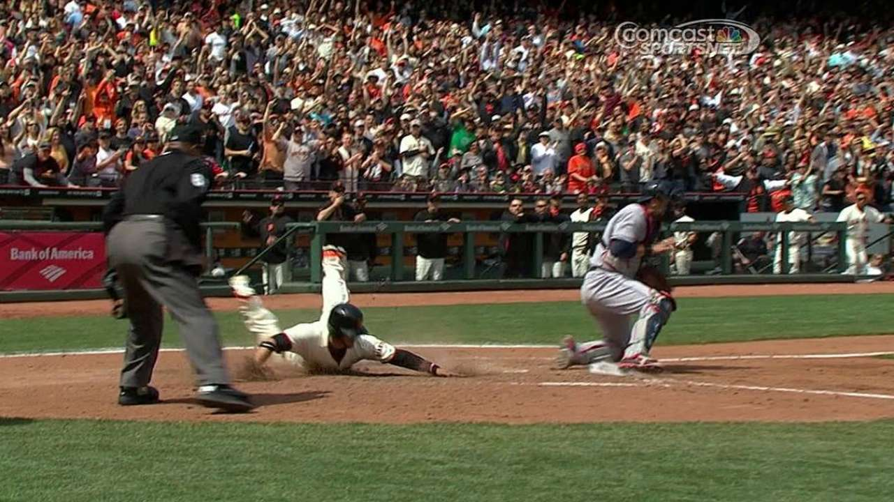 Clutch relief, Pence's hit key in Giants' comeback
