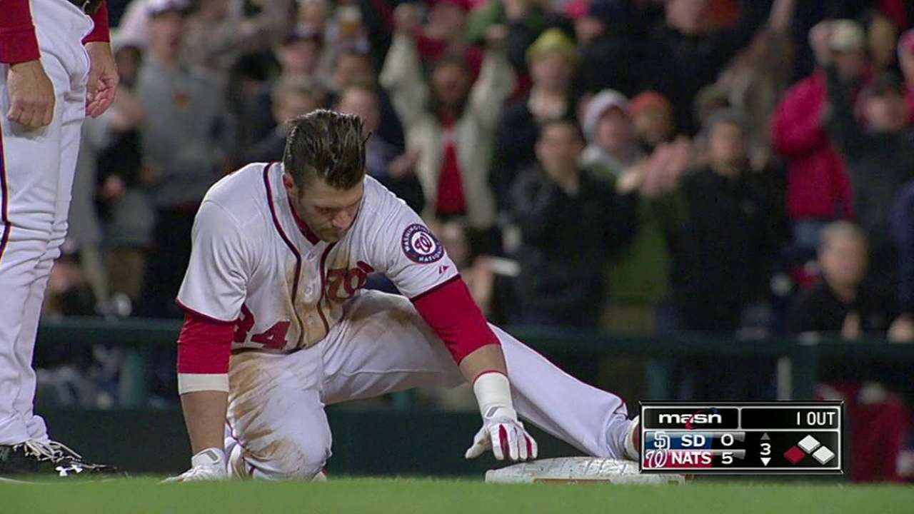 Stitches out, Harper working out in DC