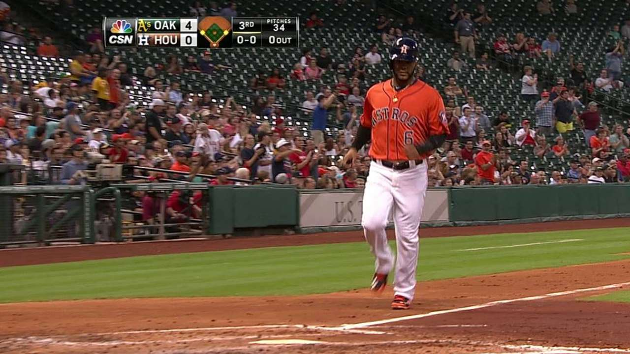 Astros unable to solve A's after early rally