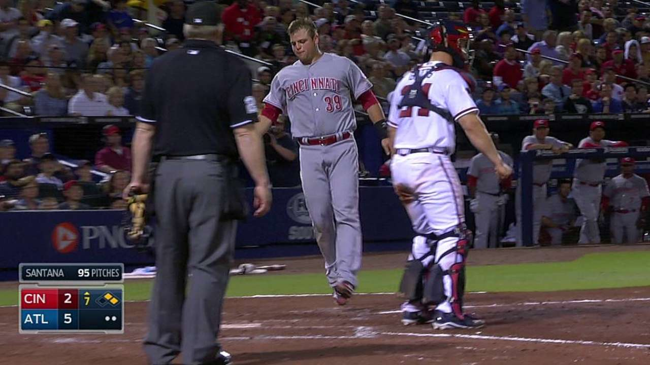 Hamstring holds up as Mesoraco runs sprints