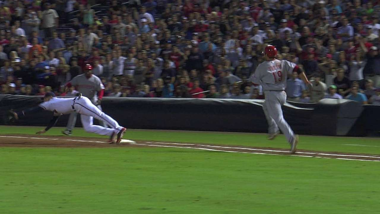 Replay confirms final out in Braves' win