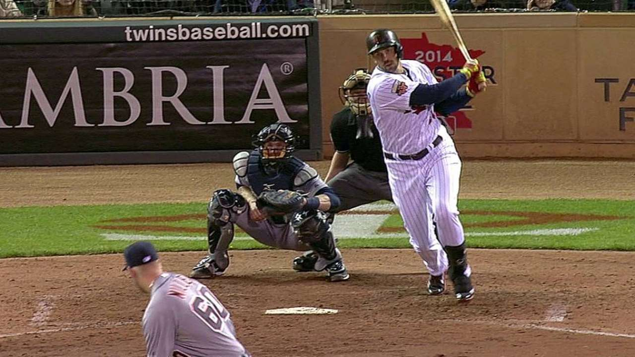 RBI leader Colabello gives Mauer a rest at first
