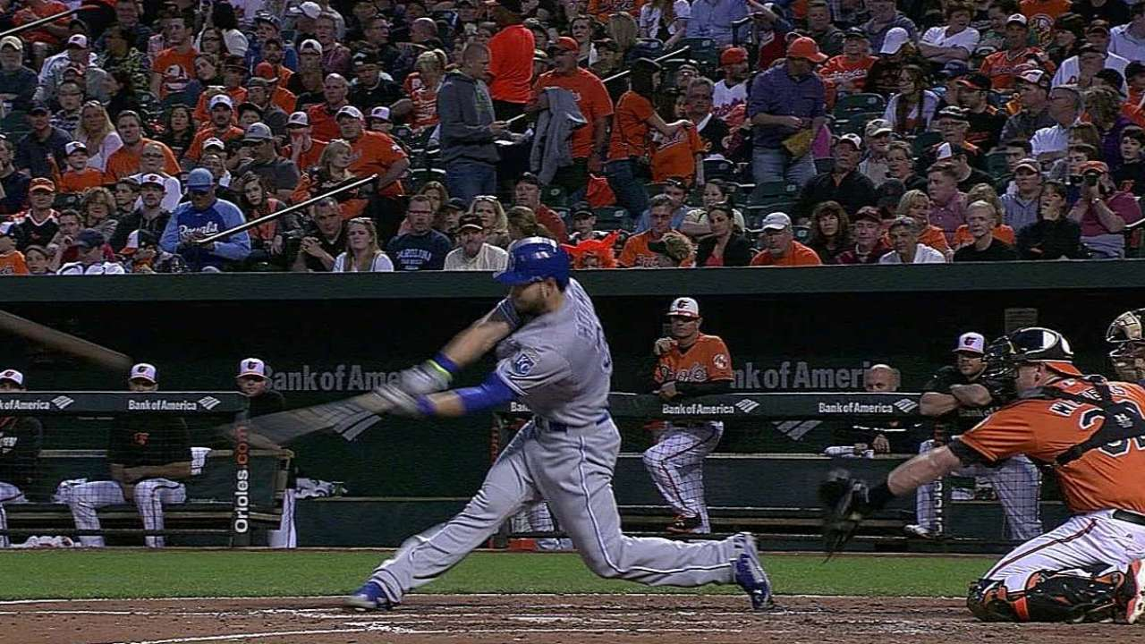 Royals can't find relief in extras loss to O's