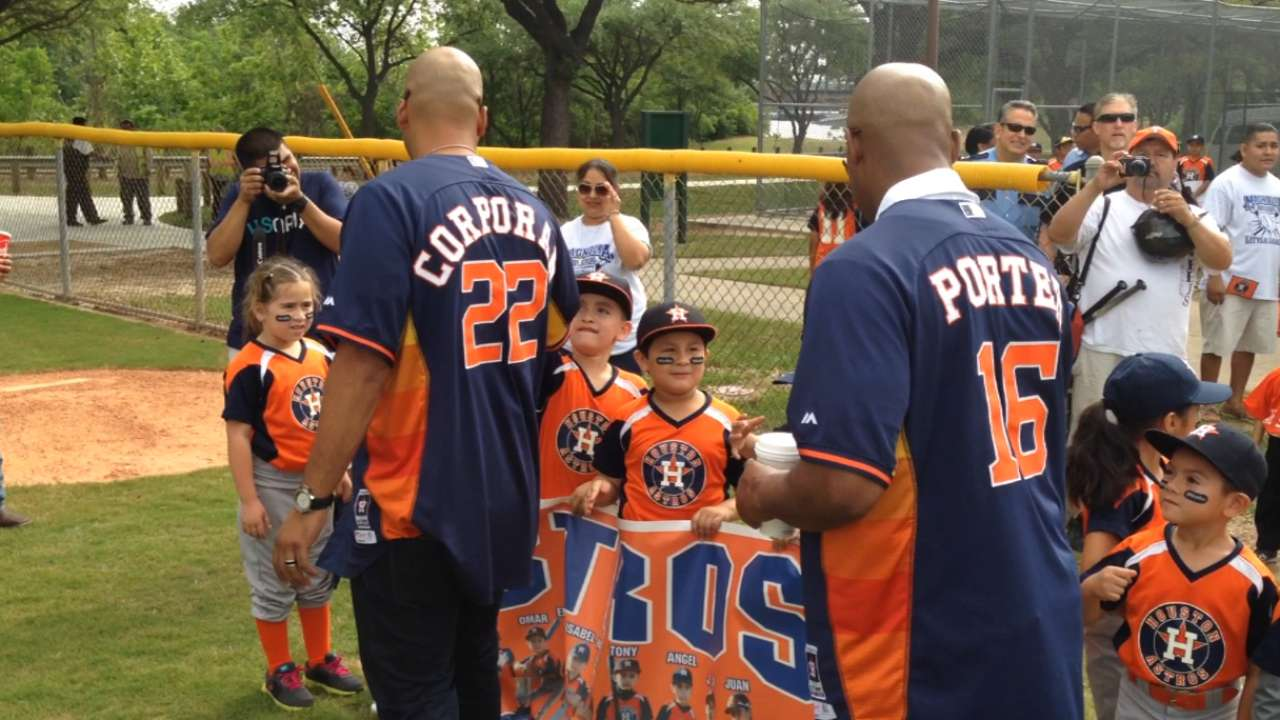 Astros open two newly renovated youth fields