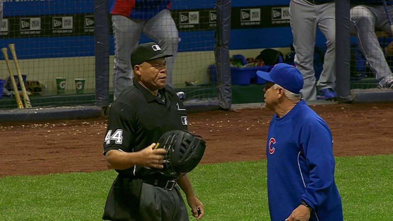 Renteria challenges final play of game, call is confirmed