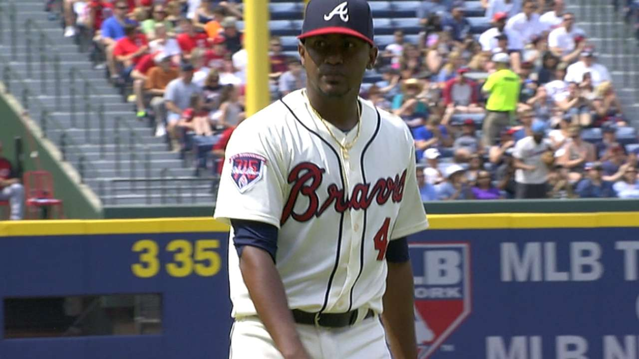 Three up, three down: Braves humming on hill