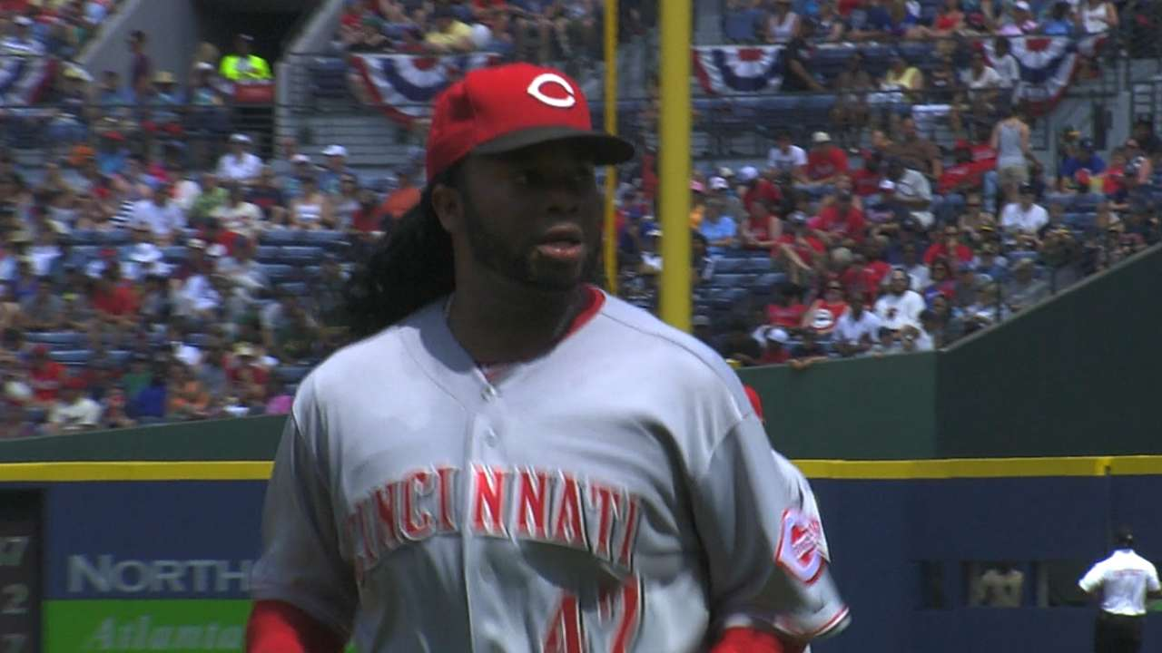 Cueto matches Teheran, but Reds fall in 10th