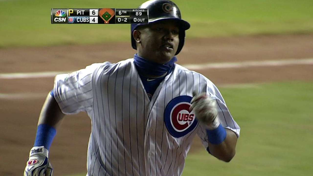 Cubs fall, but two HRs show Starlin's in rhythm