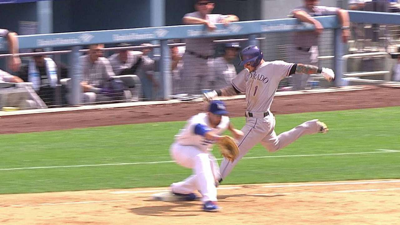 Dodgers win challenge to overturn call at first