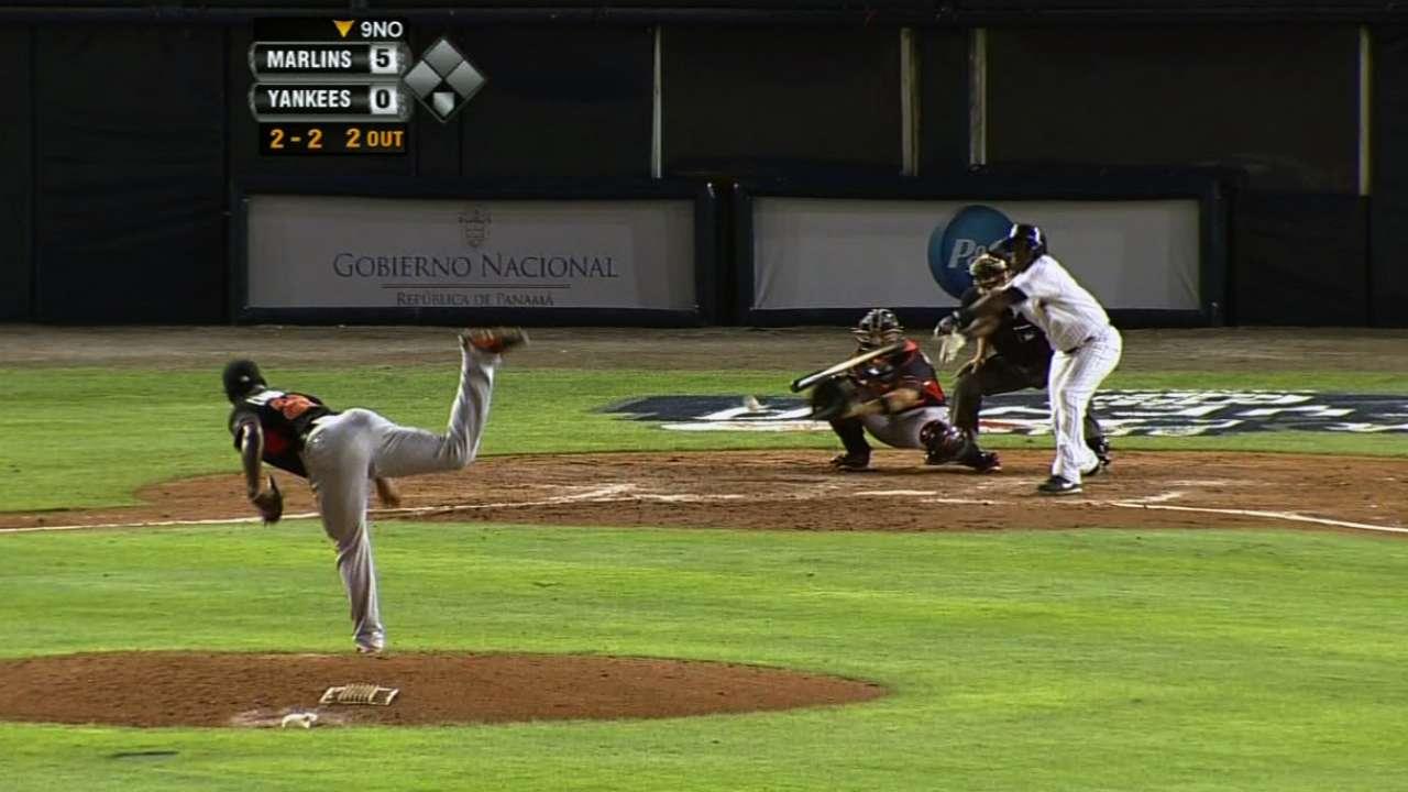 Marlins dejaron sin hit a los Yankees en Panamá