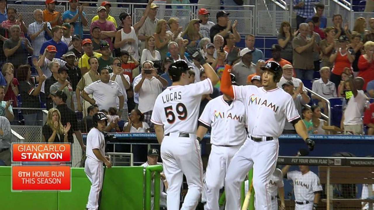 Stanton showing what he can do when healthy