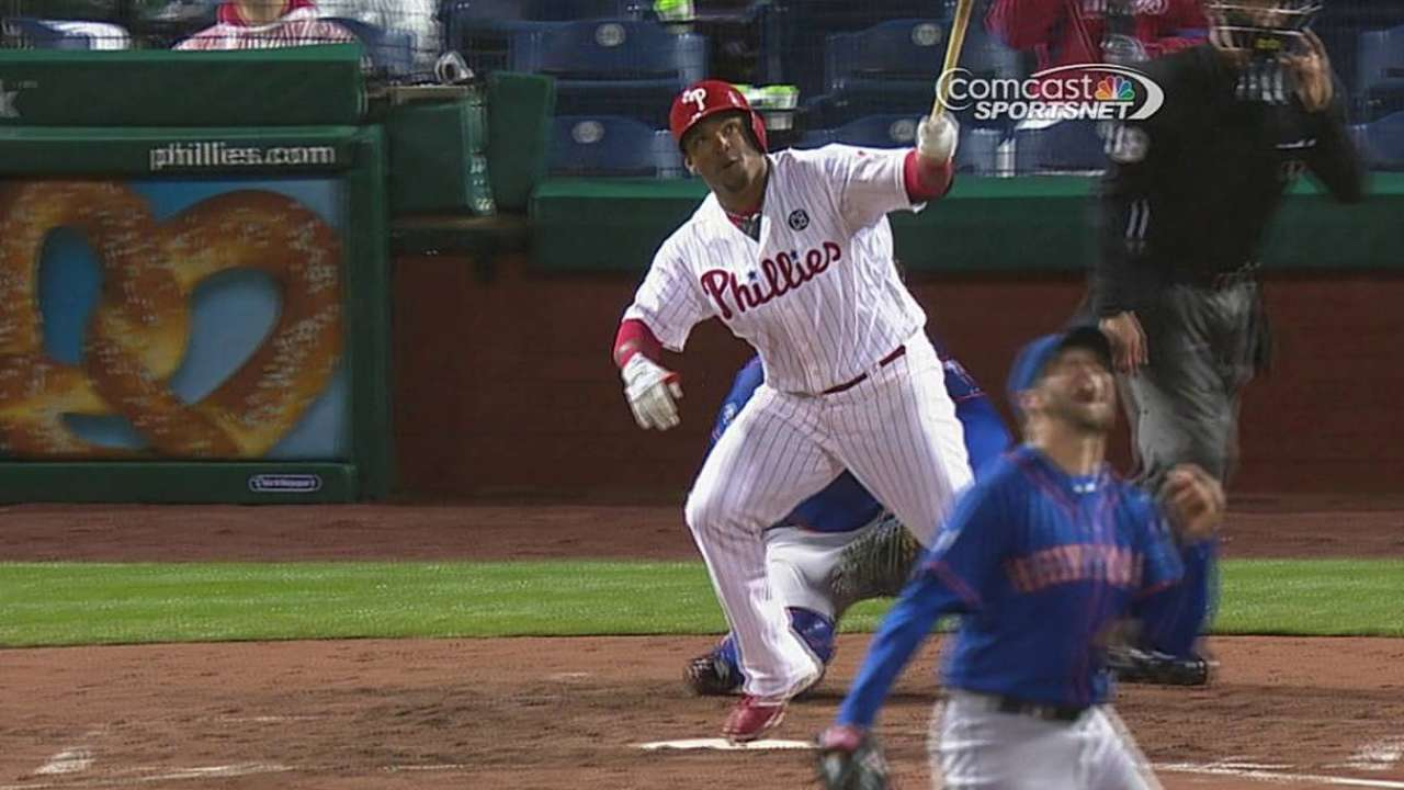 Hamels off his game in home debut vs. Mets