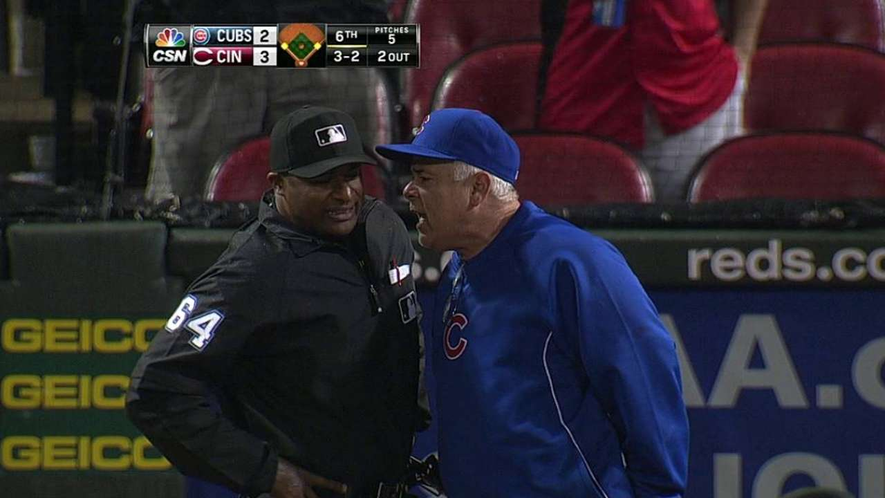 Renteria ejected in sixth inning against Reds