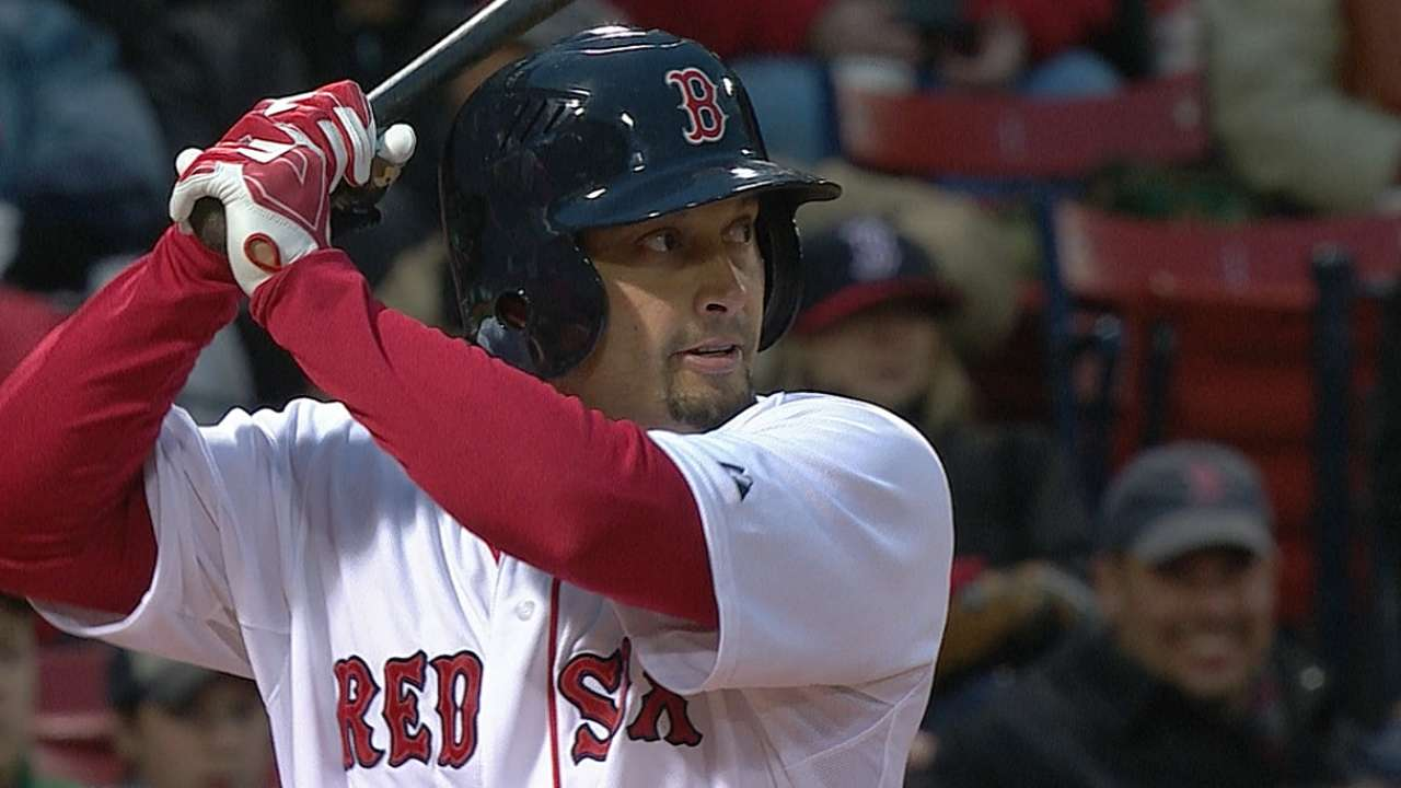 Red Sox shuffle outfield for middle game with A's