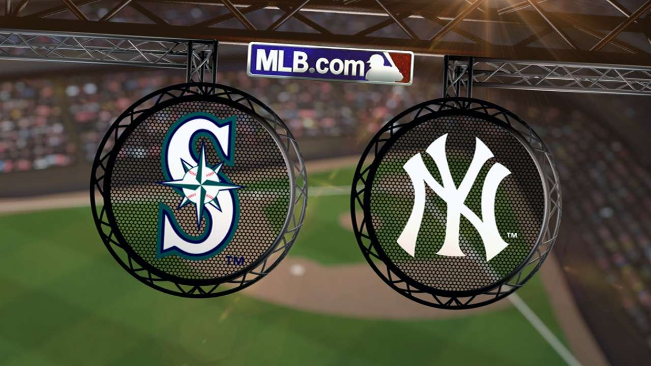 Mariners-Yanks postponed, rescheduled for June 2