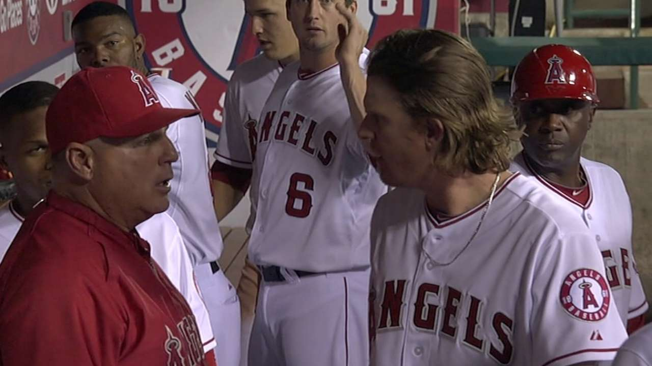 Weaver getting used to Angels shifting