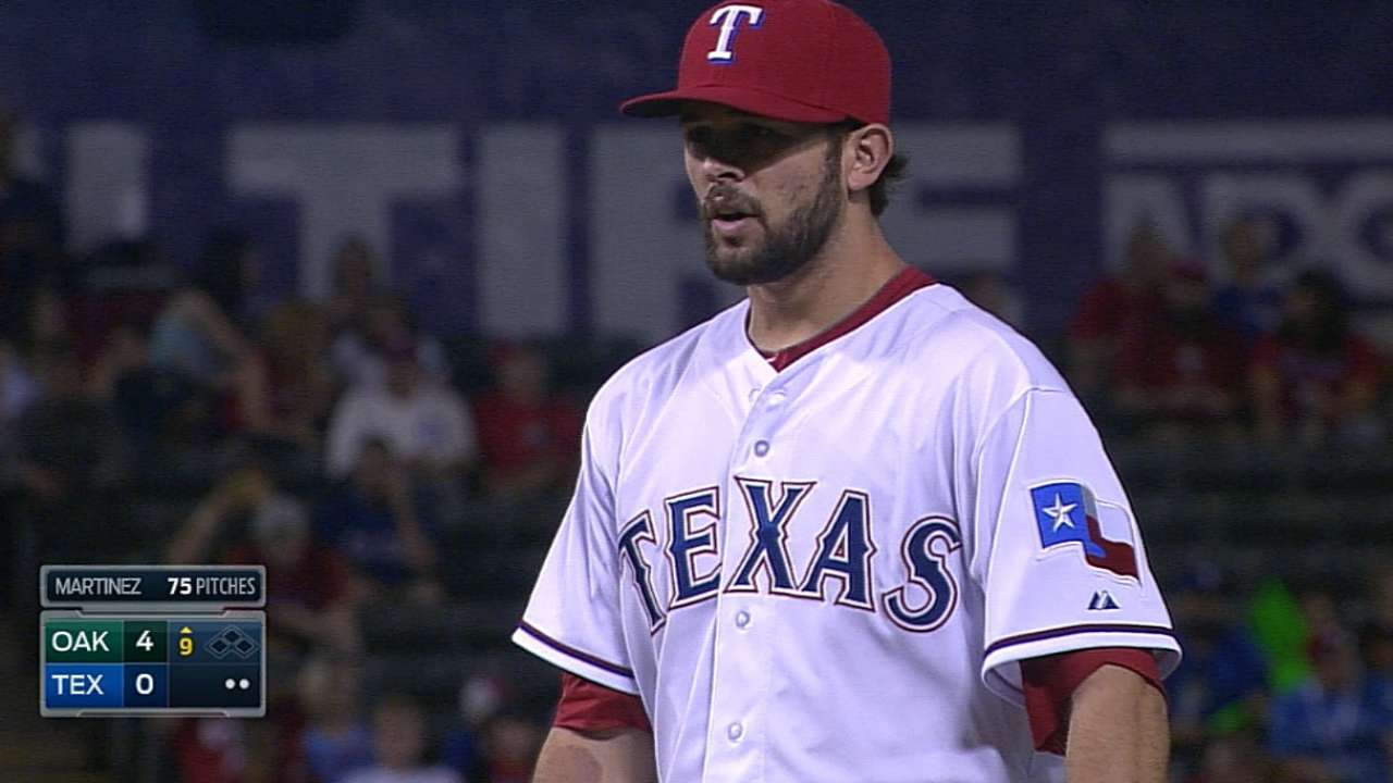 Martinez more than Rangers' mop-up reliever