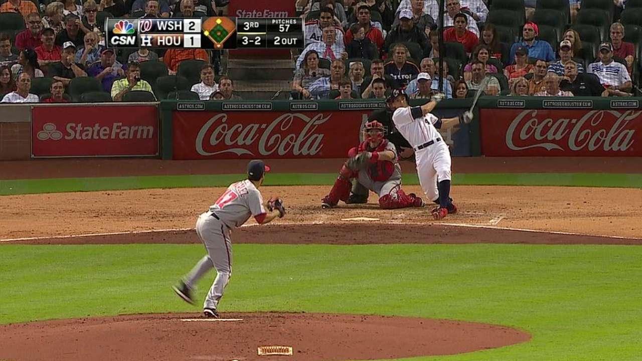 Cosart lució pero Astros cayeron con Nacionales