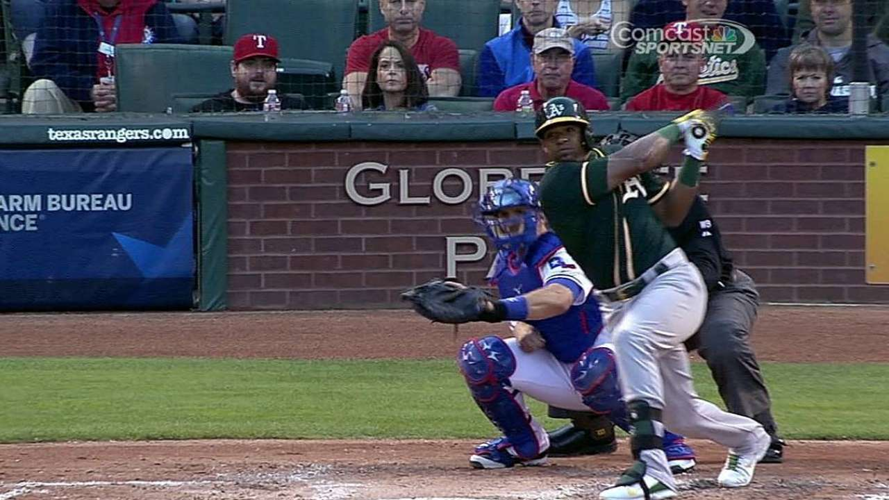 Cespedes making better adjustments at plate