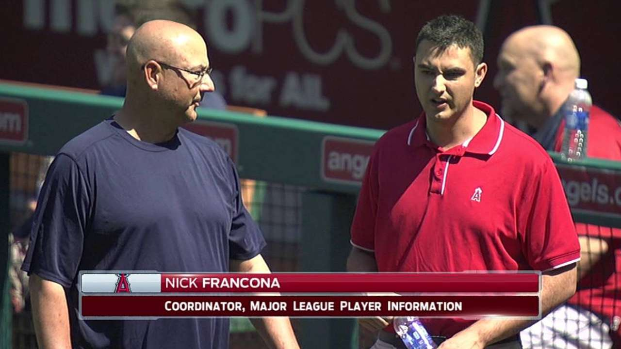 Francona family squares off in Indians-Angels contest