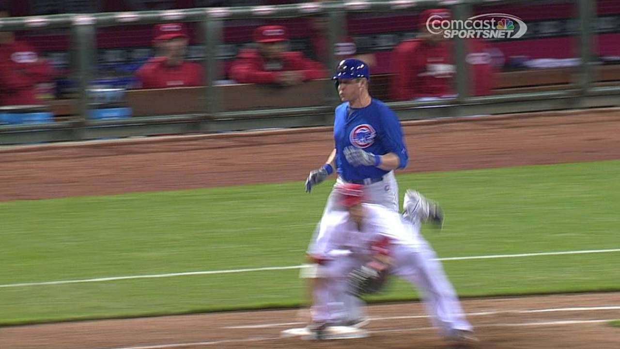 Call stands after Cubs' challenge in ninth inning