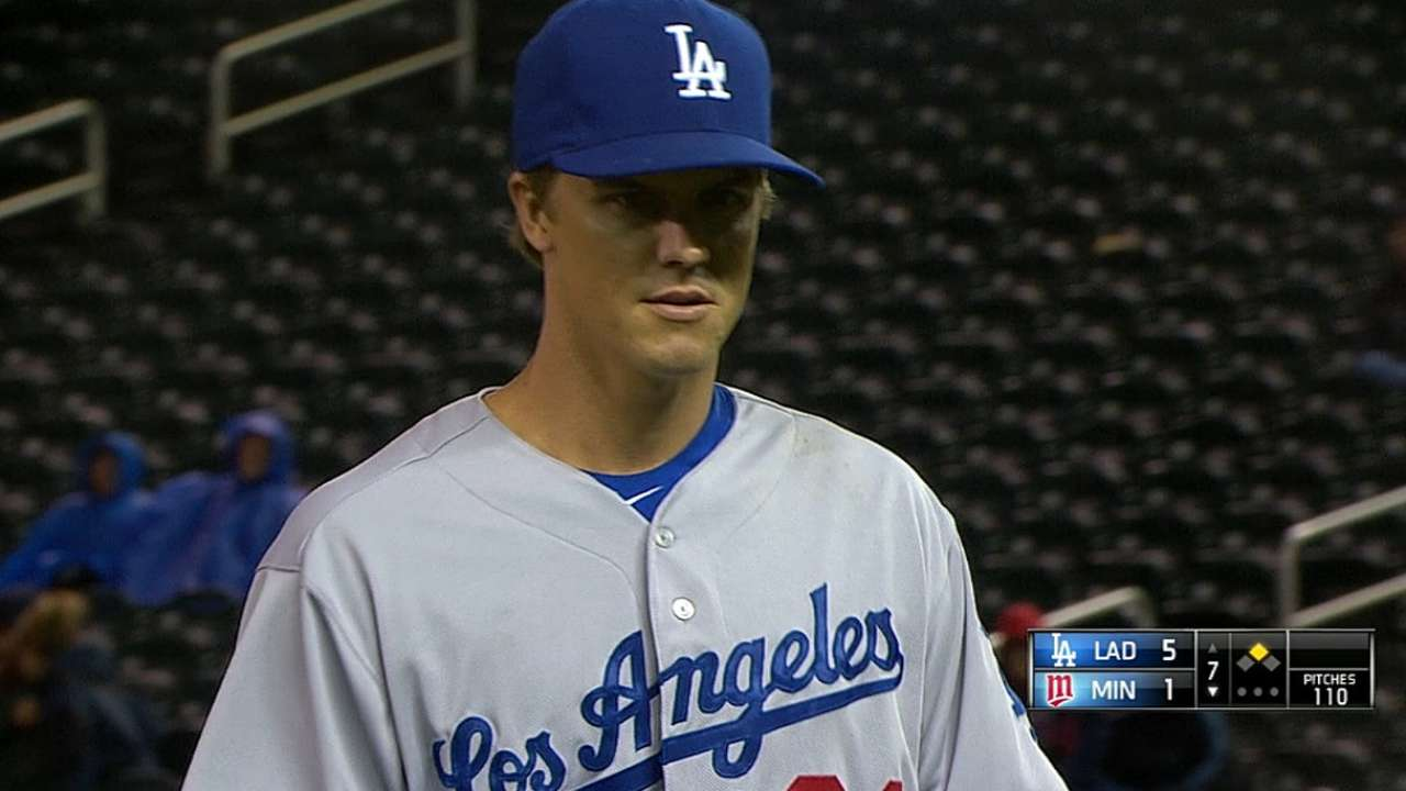 Dodgers deciding when Greinke makes next start