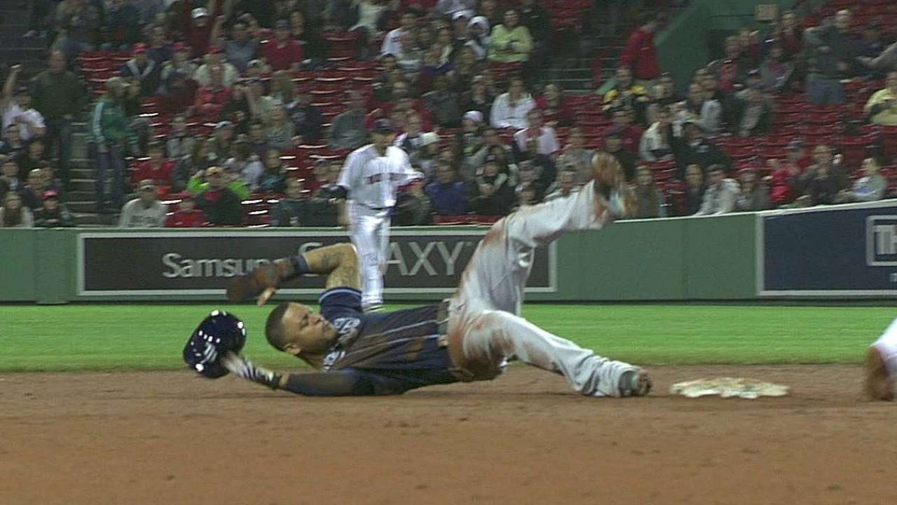 Rays lose challenge on steal attempt