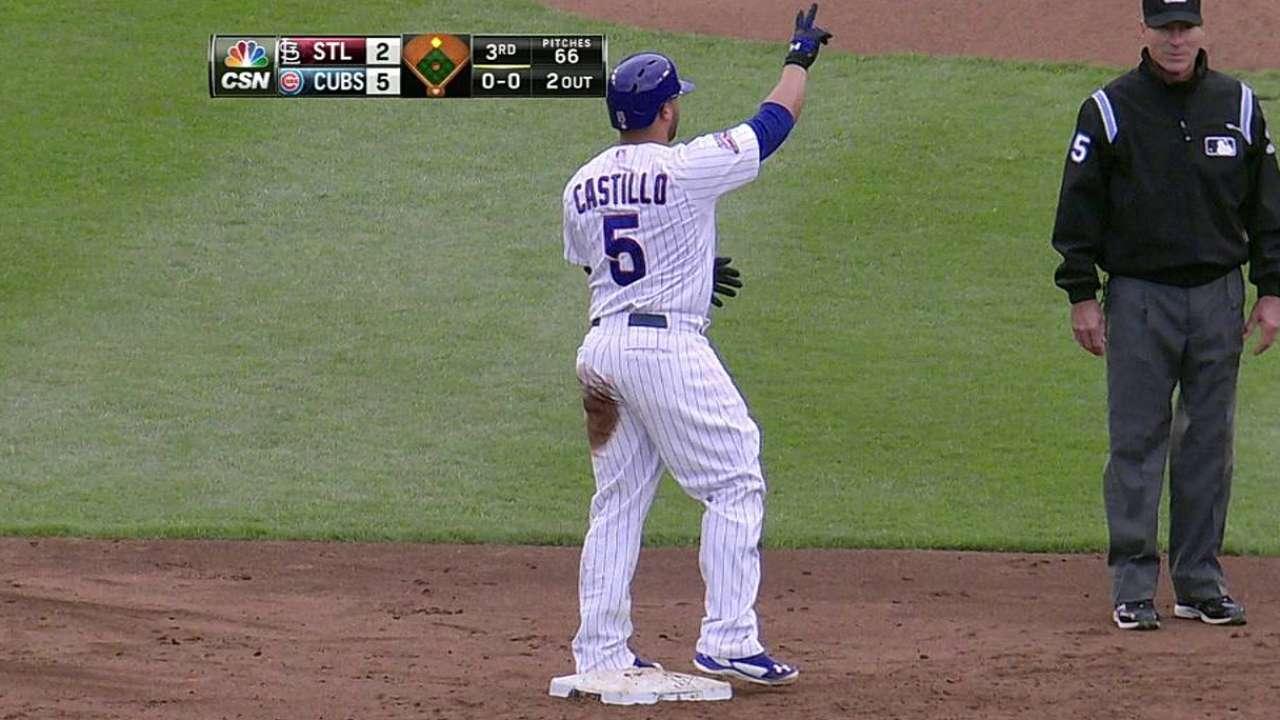 Castillo y Rizzo guiaron a Cubs sobre Cardenales
