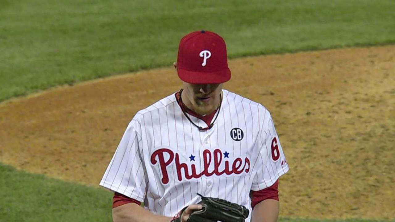 As Phils prep power arm, Diekman hits 100