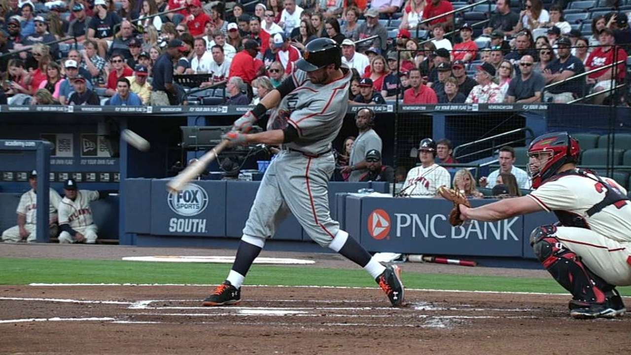 Solo shots pay off for Giants again in Atlanta