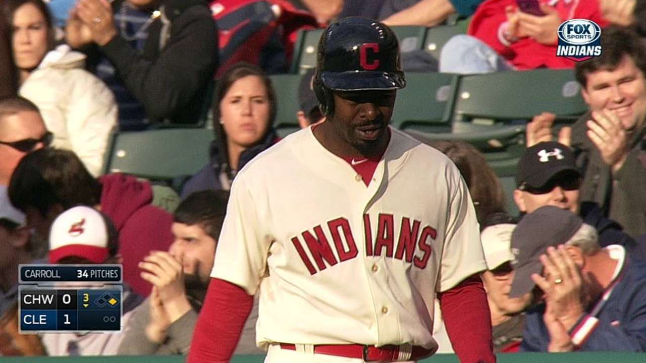 Indians continue to evaluate Bourn's injury