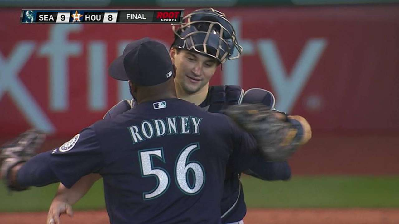 Rodney delivers with first four-out save