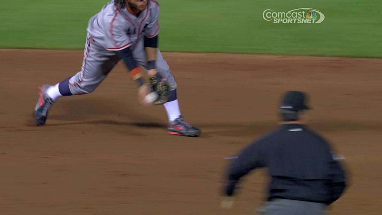 Hicks holds his ground at second base
