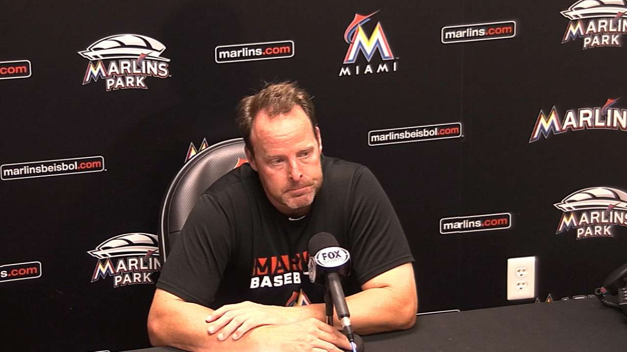 Marlins look at Turner's progress, not results
