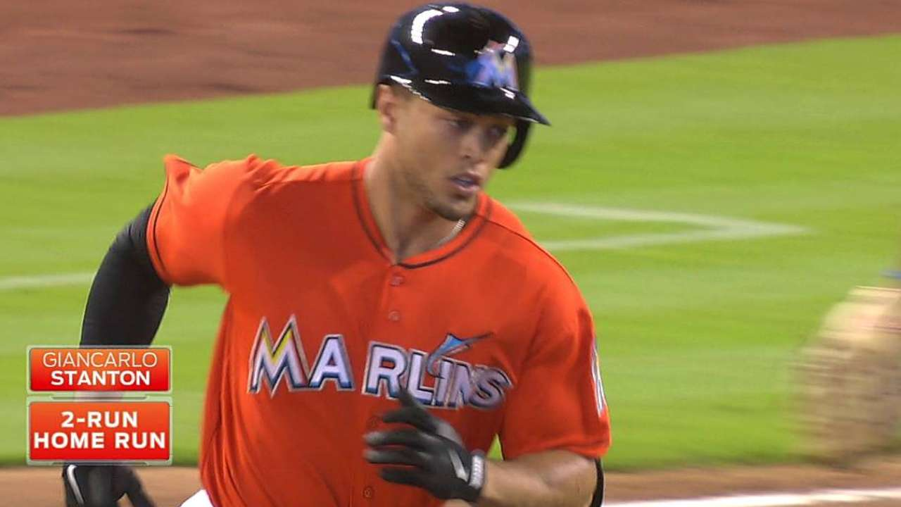 Marlins going deep early at spacious Marlins Park