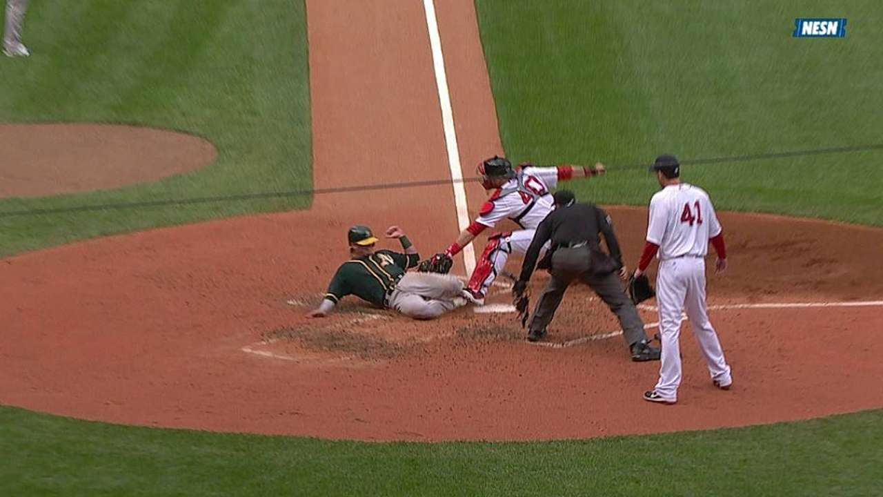 A's see two replay calls go the other way