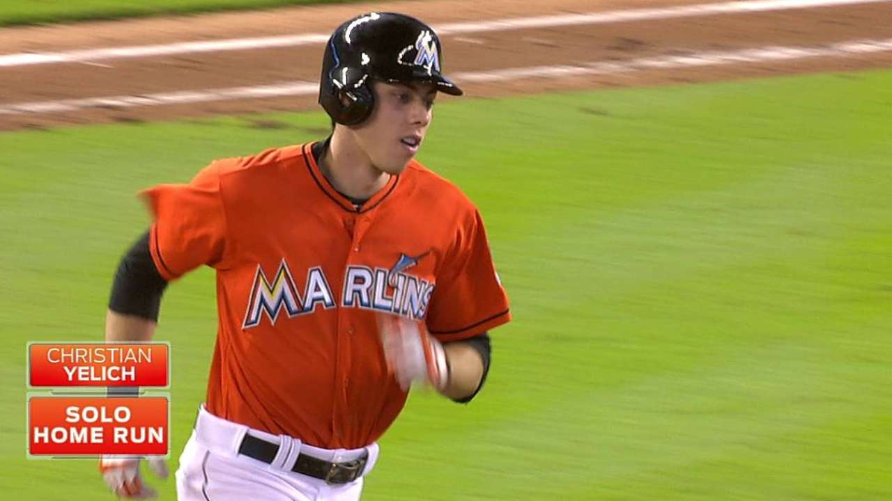 Yelich reconnecting with family on road trip
