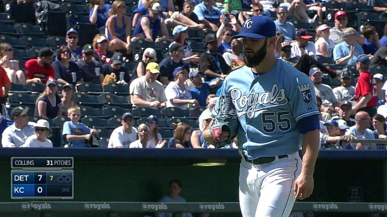 Collins returns to KC, Brooks sent to Omaha