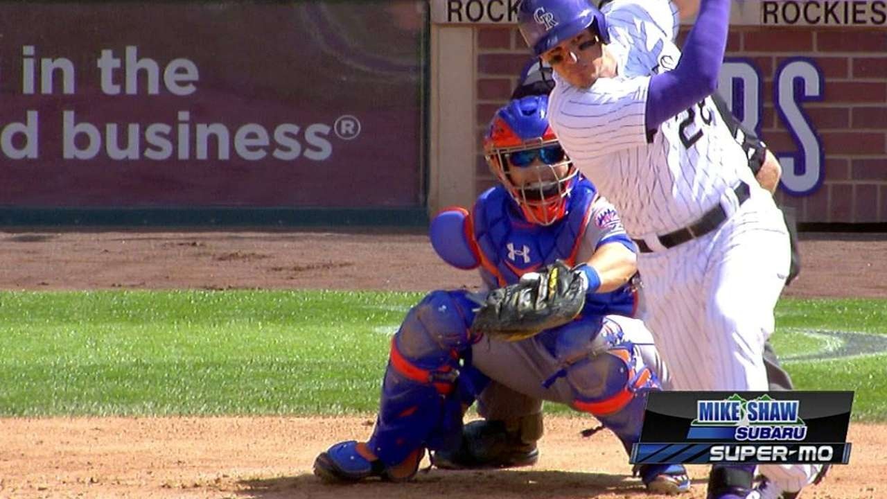 Arenado extends hit streak to 24 games with double