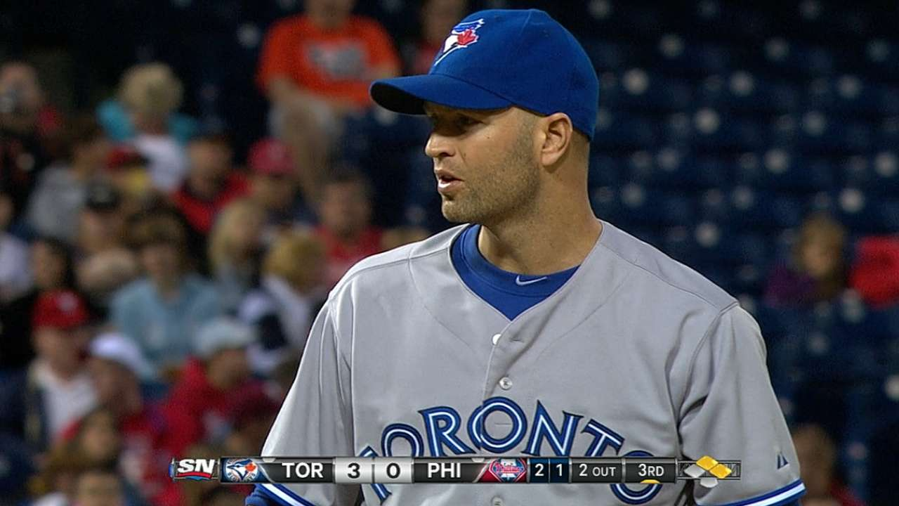 Happ states his case in Blue Jays' shutout win