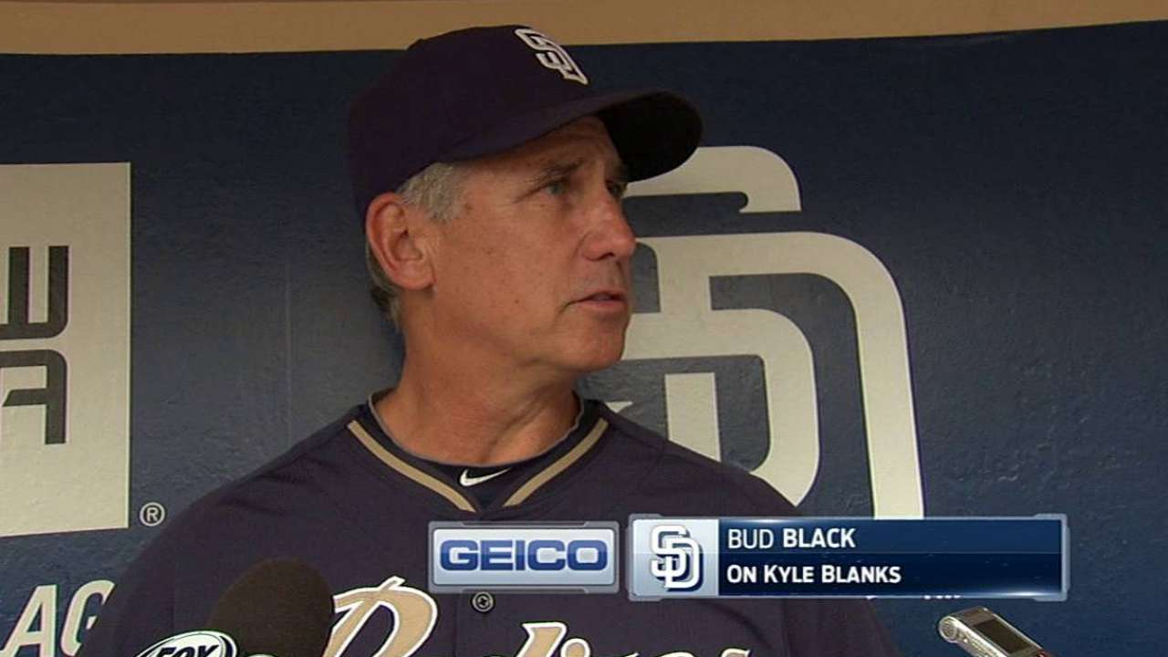 Padres hoping Blanks can jumpstart offense