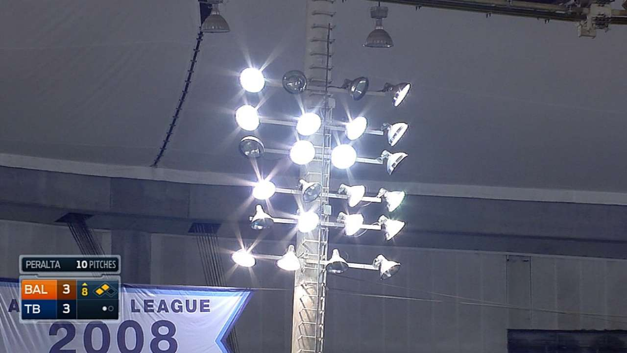 Lightning source of power delay at The Trop