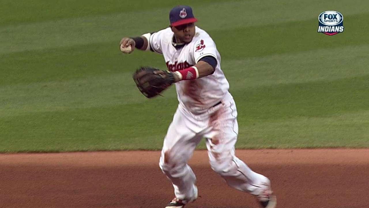 Santana shows huge improvement at third base