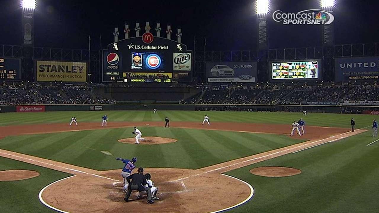 Cubs sufren tercera derrota en fila contra White Sox
